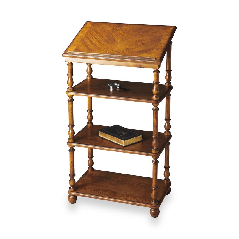 Library Stand - Vintage Oak