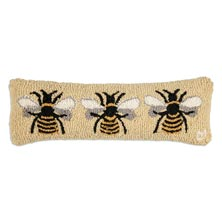 "Bumblebee 8"" x 24"" Hooked Pillow"