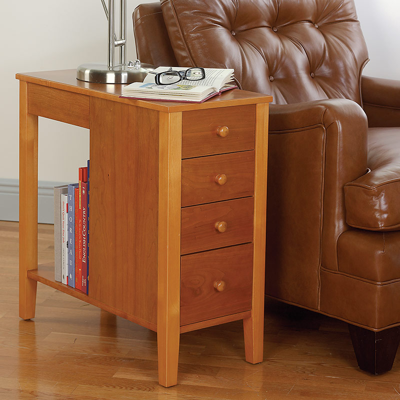 No-Room-for-a-Table Table™ With Drawers, Natural Cherry