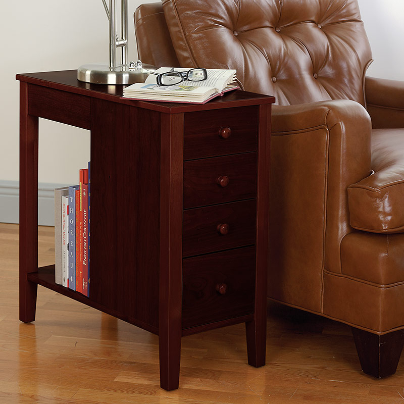 No-Room-for-a-Table Table™ With Drawers, Dark Cherry