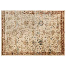 Anastasia Rug - Antique Ivory/Rust