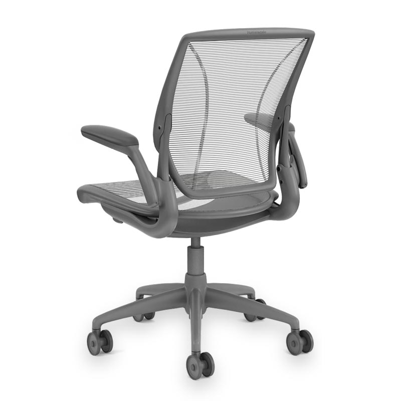 Diffrient World Chair, Base Grey Mesh Silver