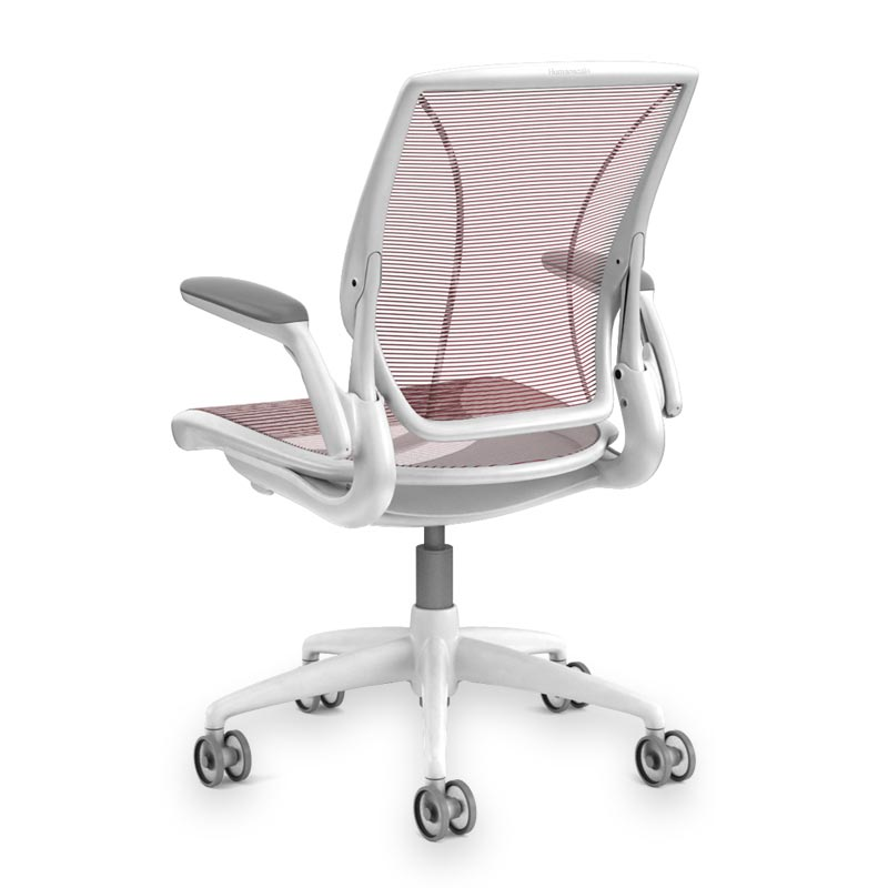 Diffrient World Chair, Base White Mesh Crimson