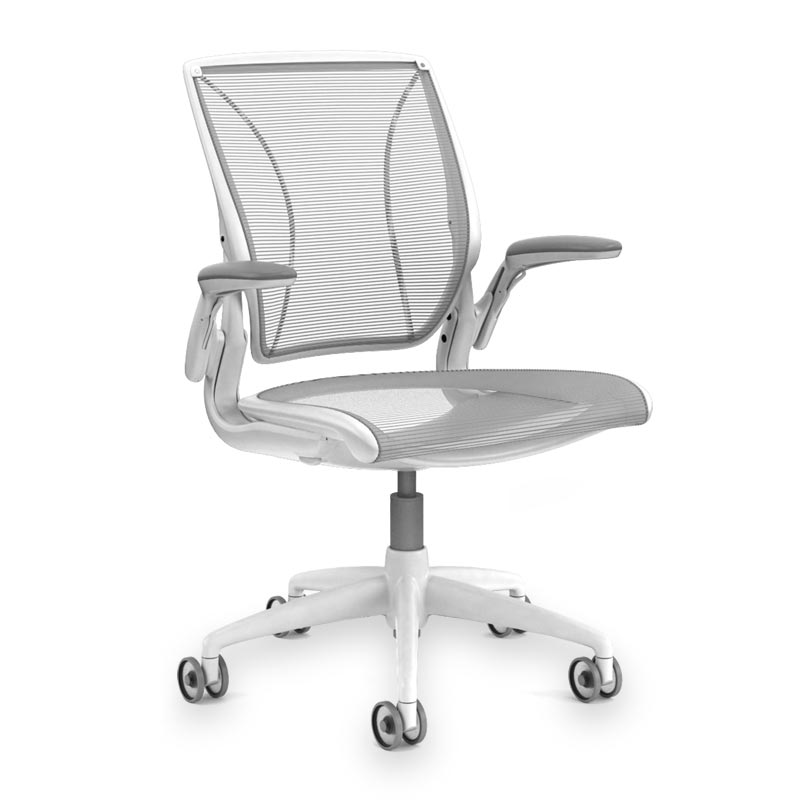 Diffrient World Chair, Base White Mesh Silver