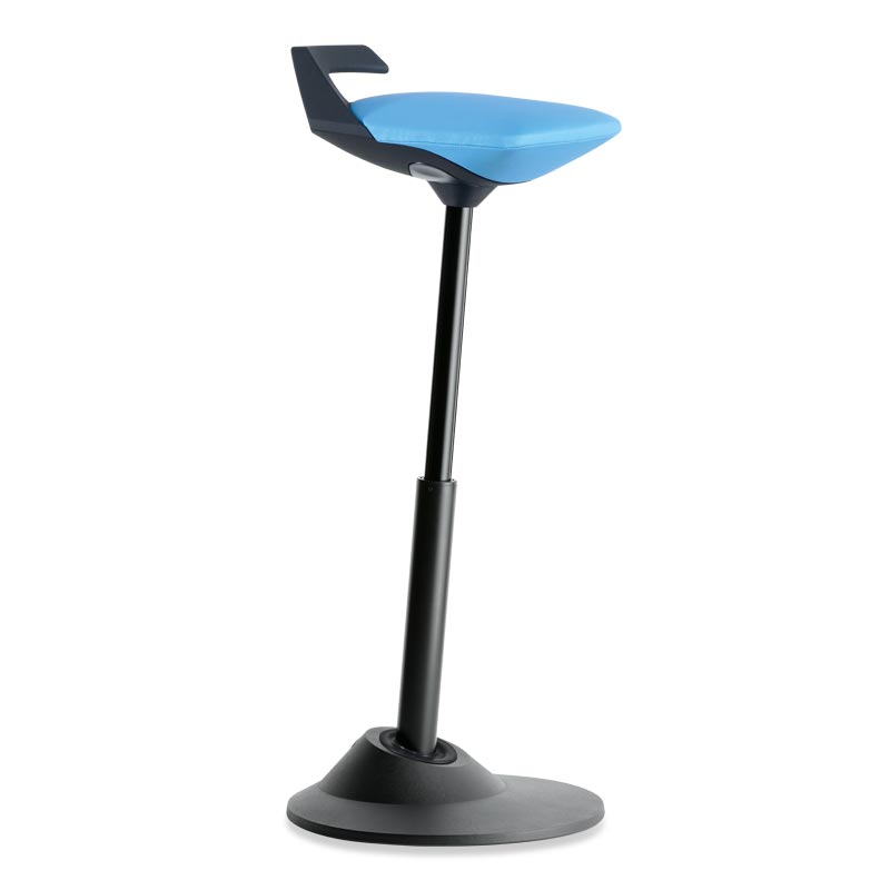 Muvman Stool, Base Black Seat Blue