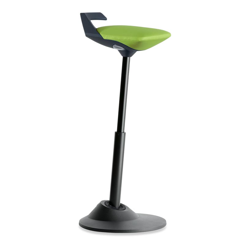 Muvman Stool, Base Black Seat Green