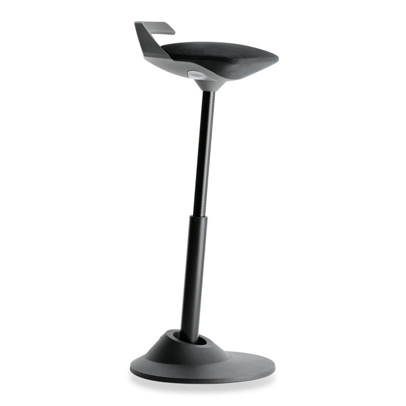 Muvman Stool, Base Black Seat Black