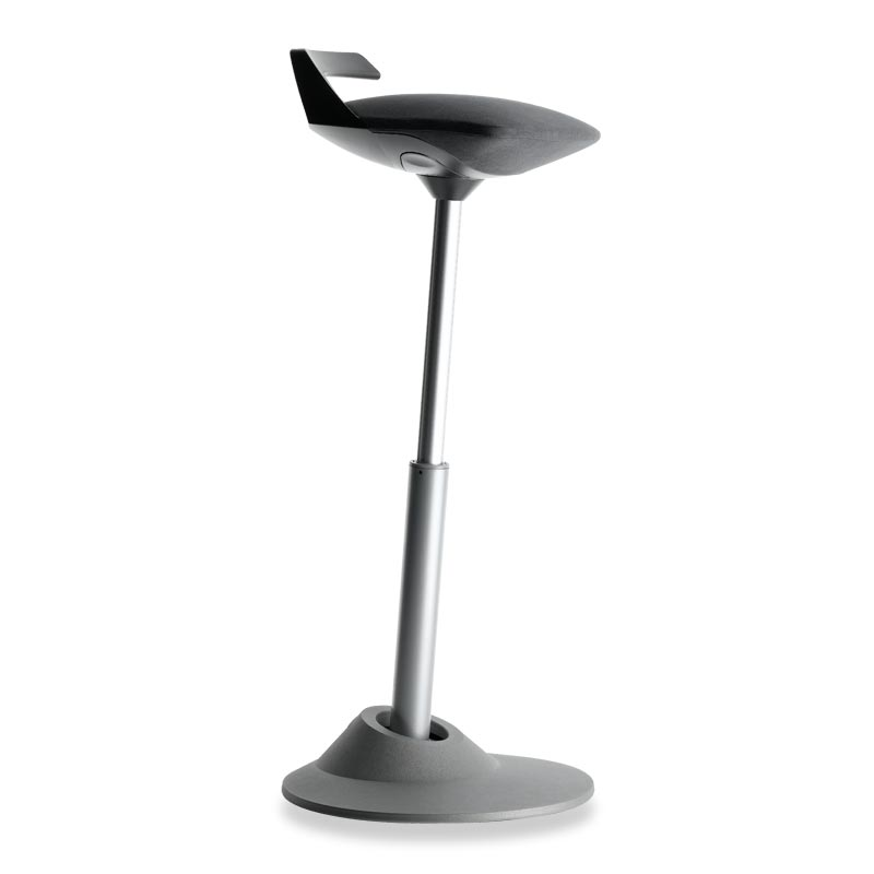Muvman Stool, Base Grey Seat Black
