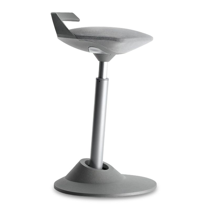 Muvman Stool, Base Grey Seat Grey