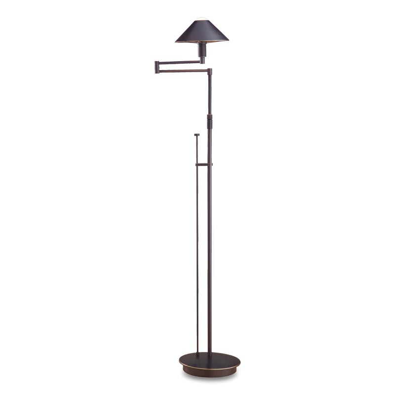 Absolute Swing-Arm Floor Lamp, Hand-Finished Bronze