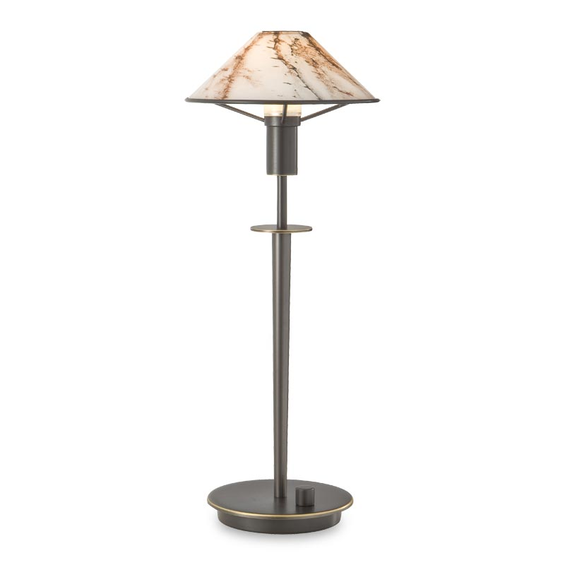 Little Star Table Lamp, Hand-Finished Bronze, Marble