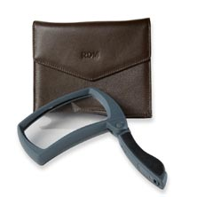 Folding Magnifier with Leather Pouch