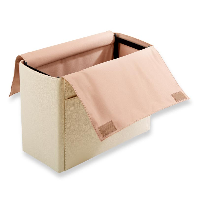 LevTex™ Pebbled Portable File Tote with Pockets - Ivory