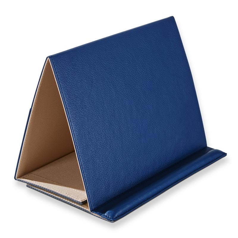 Leather Large Tablet Stand - Classic Blue