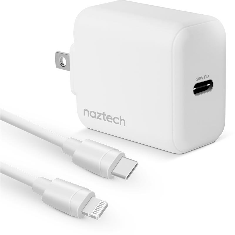 20W USB-C PD Fast Wall Charger, White