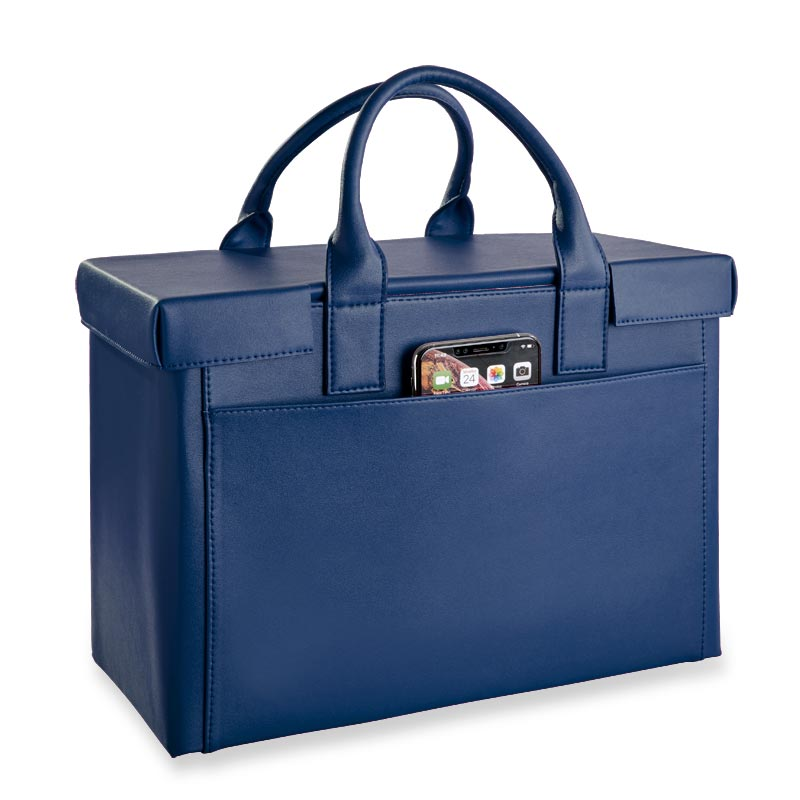 LevTex™ Covered Portable File Tote Ensemble - French Blue