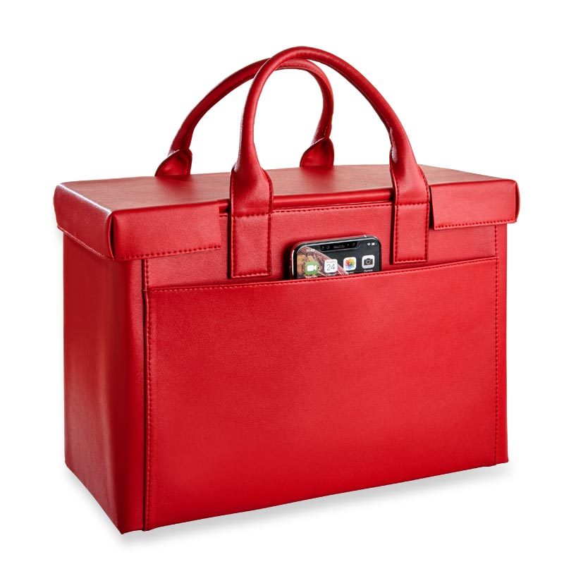 LevTex™ Covered Portable File Tote Ensemble - Red