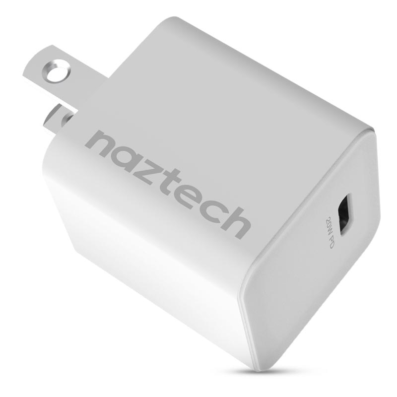 20W USB-C PD Mini Fast Wall Charger - White