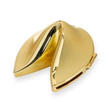 Fortune Cookie Box - Gold