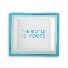 The World is Yours Desk Tray