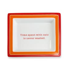 Time Spent With Cats Desk Tray