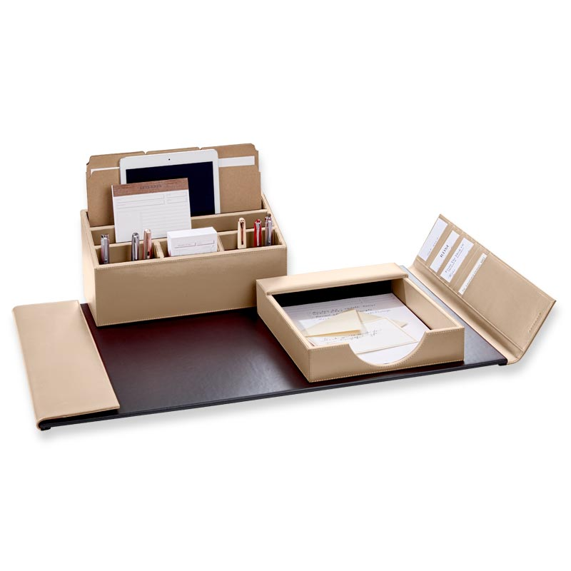 Beige Dyana Desk Set (3 Pieces)