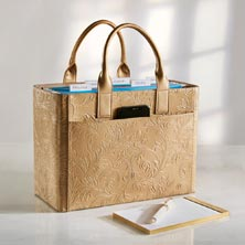 Filigree Portable File Tote