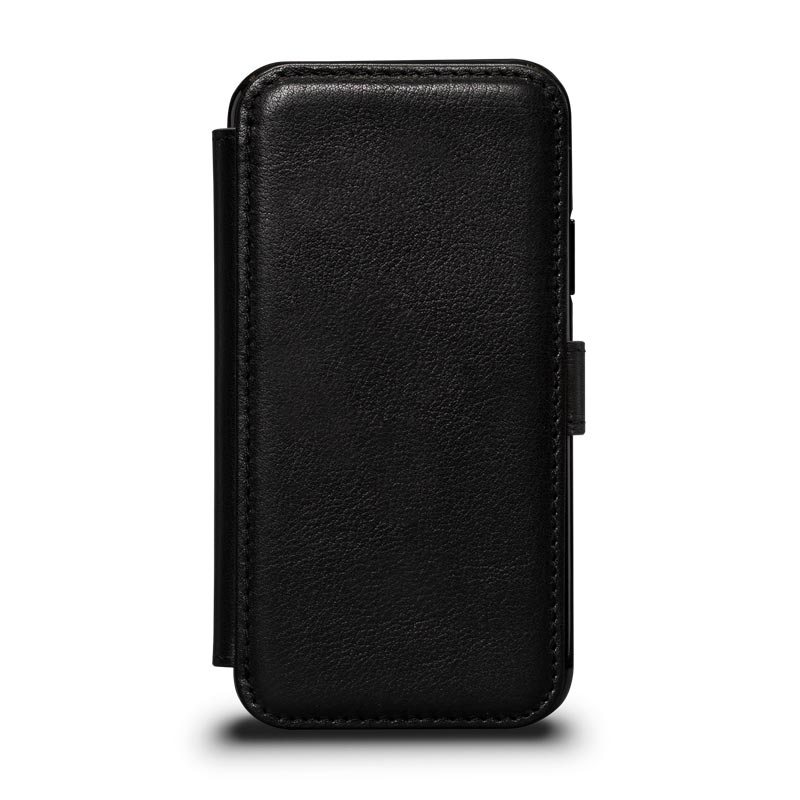 Leather Wallet Book Case iPhone XS - Black
