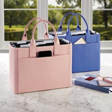 Prestige Portable File Tote - Pink Whisper