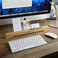 Bamboo Note Card and Pen Holder