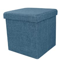 Foldable Storage Ottoman with Tray