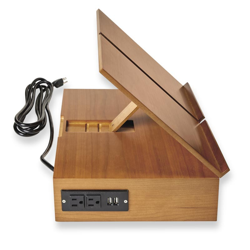Cubi Charging Storage Stand-Natural Cherry