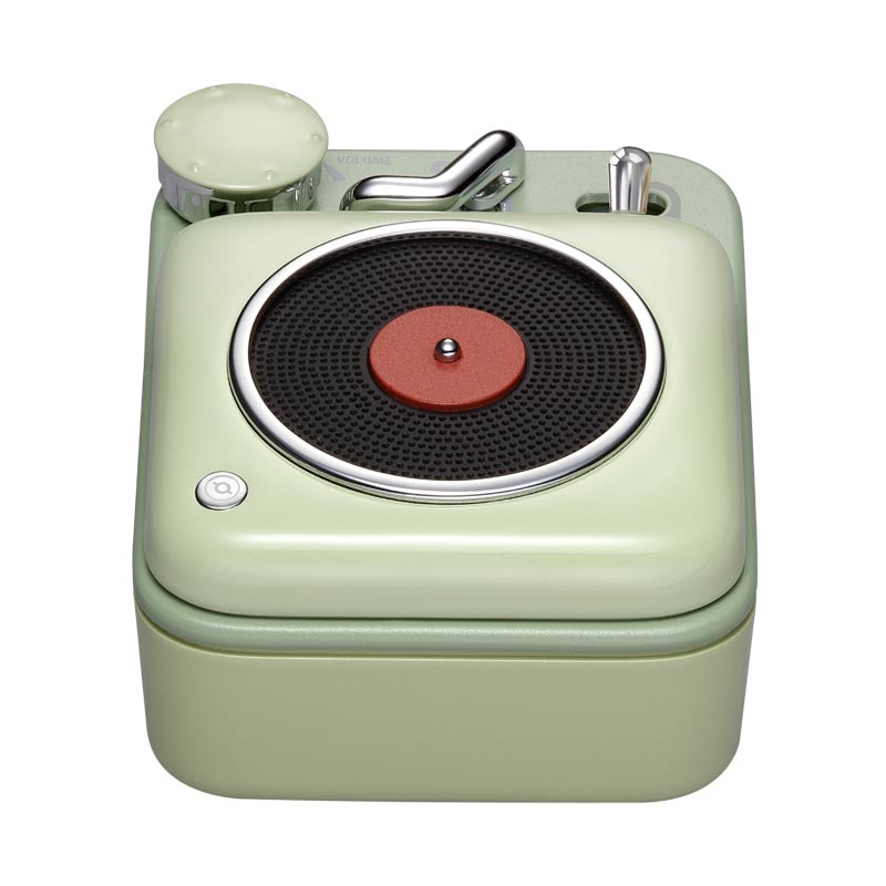 Button Record Player Bluetooth Speaker