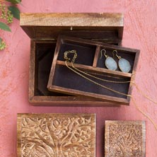 Tree of Knowledge Storage Box with Tray