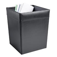 Leather Square Waste Basket