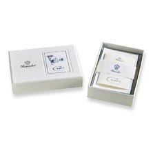 Pineider Capri Boxed Card Set White/Blue