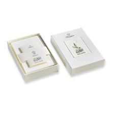 Pineider Milano Boxed Cards White or Ivory