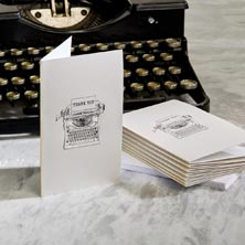 Typewriter Thank You Note