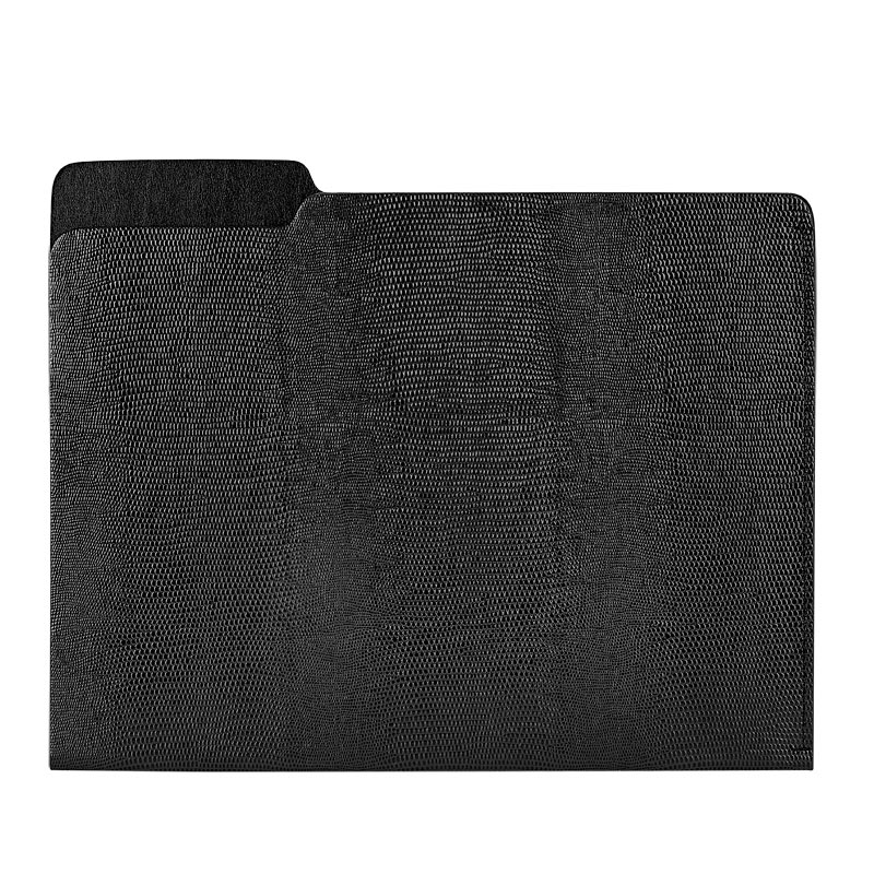 Gray Embossed File Folder