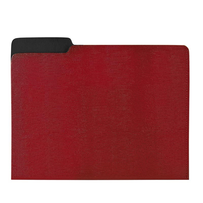 Red Embossed File Folder