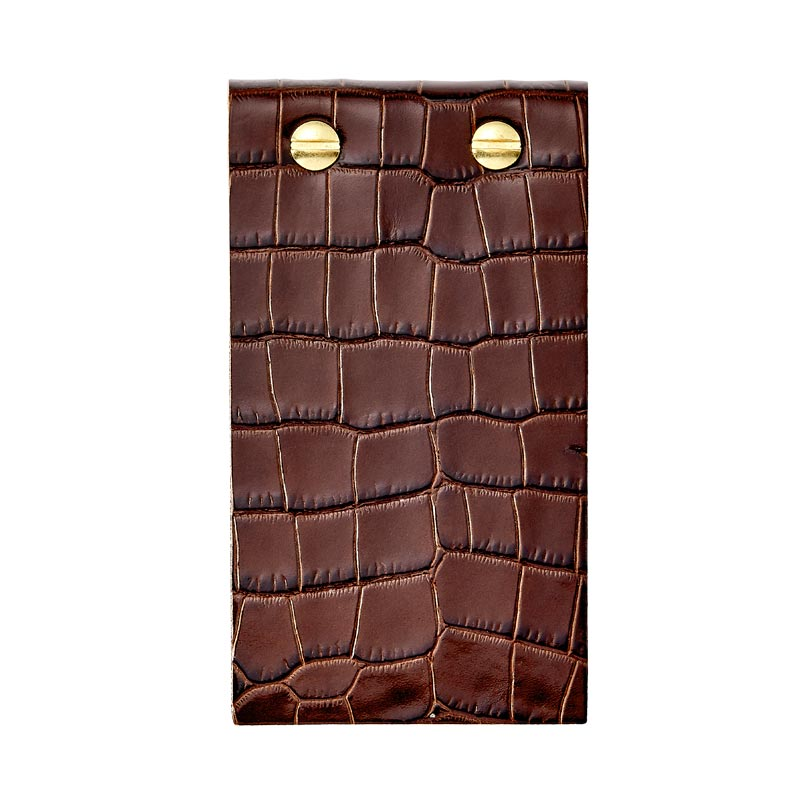 Croc Embossed Leather Flip Pad