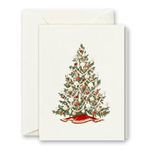 Crane Engraved Christmas Tree Card