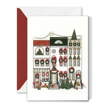 Crane Engraved Cheerful Brownstones Card