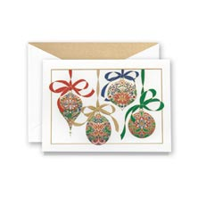 Crane Engraved Elegant Ornaments Card