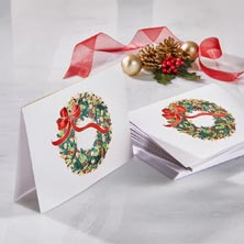 Holiday Leaf Wreath Card
