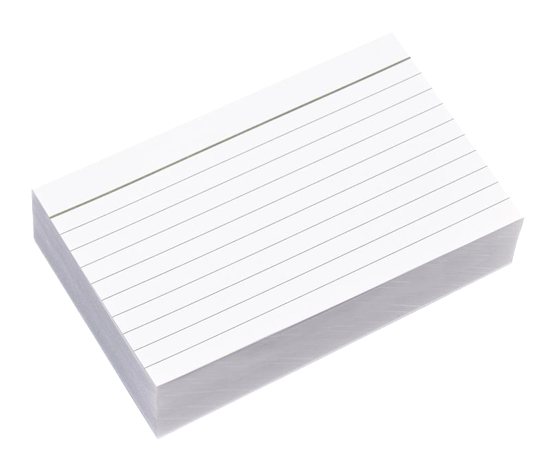 3 x 5 Lined Notecards