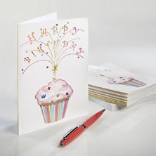 Sparkler Cupcake Cards. Set/8.
