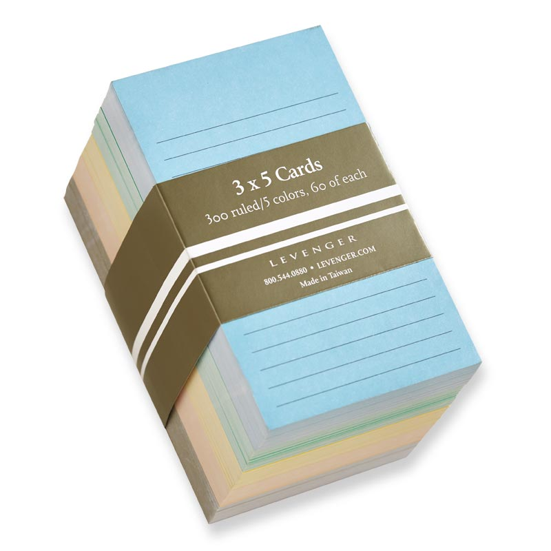 Multicolor 3 x 5 Cards (Set of 300)
