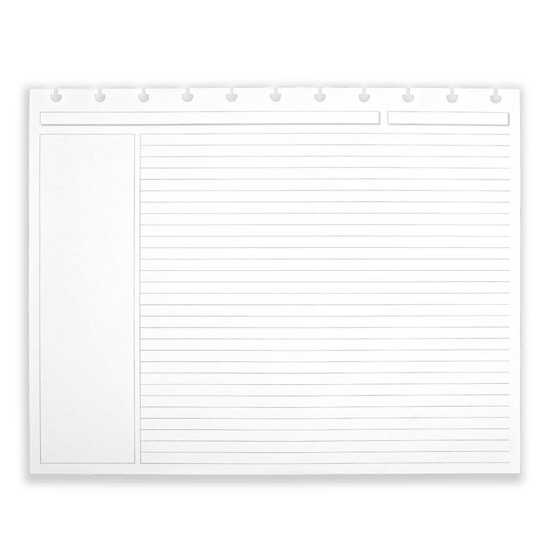 Circa® Landscape Annotation Ruled Refill (300 Sheets) - Letter