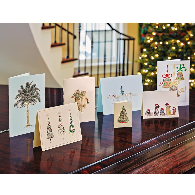 Crane Engraved Viennese Christmas Cards (Set of 10)